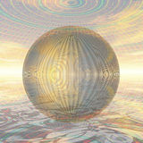 Metal ball in spherical environment Royalty Free Stock Image