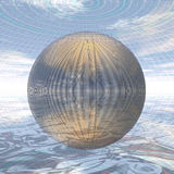Metal ball in spherical environment Royalty Free Stock Photos