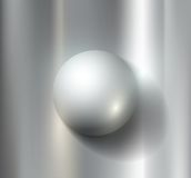 Metal ball. Vector metal ball lies on a gray background vector illustration