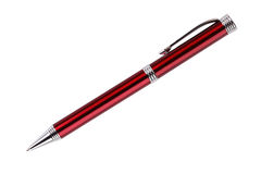 Metal ballpoint pen in red Stock Image
