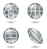 Metal balls stock images