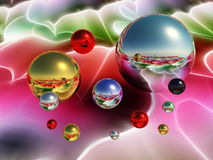 Metal balls. Very bright and colorful metal balls Stock Image