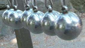Metal balls stock footage