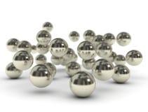 Metal balls on white background Stock Photos