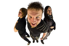 Metal band fisheye photo Stock Images