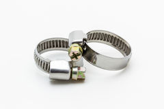 Metal band hose clamp. Stock Photos