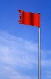 Metal a bandeira vermelha Fotos de Stock Royalty Free