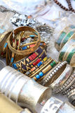 Metal bangles and bracelets Royalty Free Stock Image