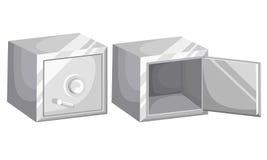 Metal bank safe  icon. Concept of the icon safe shadow Saving dollar Flat design style  illustration. Royalty Free Stock Photos