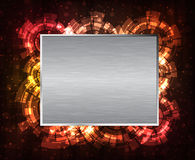 Metal banner Royalty Free Stock Photo
