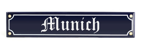 Metal banner with city name Munich.  Royalty Free Stock Photography