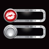 Metal banner with lips Stock Photography