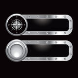 Metal banners with compass Royalty Free Stock Photo