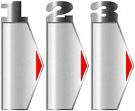 Metal Banners with Three Options Stock Images