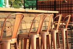 Metal bar stools Stock Images