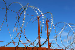 Metal barbed wire Royalty Free Stock Photography
