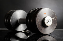 Metal barbell Royalty Free Stock Images