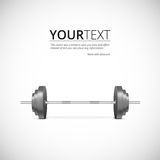 Metal barbell. Illustration of gym icons, weights realistic, vector illustration Stock Photo