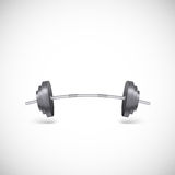 Metal barbell. Royalty Free Stock Images