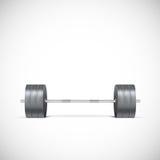 Metal barbell. Royalty Free Stock Image