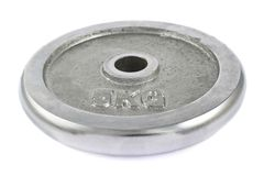Metal barbell plate isolated Royalty Free Stock Photo