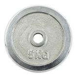 Metal barbell plate isolated Royalty Free Stock Photography