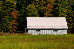 Metal shed in the field Stock Image