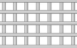 Metal barras da prisão no branco, ilustração 3d ilustração stock