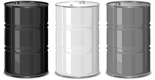 Metal barrels Royalty Free Stock Photo