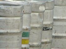 Metal barrels Royalty Free Stock Images