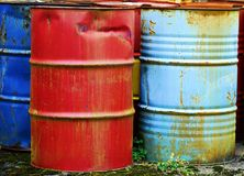 Metal barrels Stock Photography