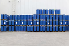 Metal barrels Royalty Free Stock Images