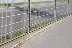 Metal barrier Royalty Free Stock Photos