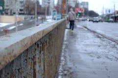 Metal barriers bridge Stock Photos