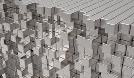 Metal bars. 3d render of abstract  metal bars Stock Photo