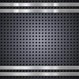 Metal bars on mesh background Stock Illustration