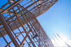 Armature against the blue sky. royalty free stock photo