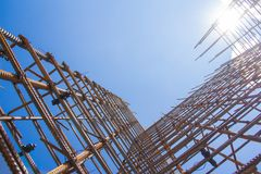 Armature against the blue sky. stock photo