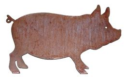 Free Metal BBQ Pig With Cute Tail Stock Image - 119165121
