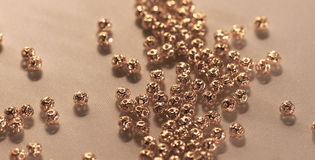 Metal beads Stock Images