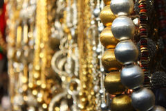 Metal beads in shop Royalty Free Stock Image
