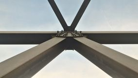 Metal beam against blue skies Royalty Free Stock Photo