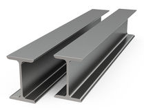 The metal beams. 3d generated picture of two metal beams royalty free illustration