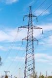 Metal Bearing high voltage power line Stock Image