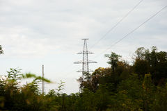 metal Bearing high voltage power line Royalty Free Stock Photography