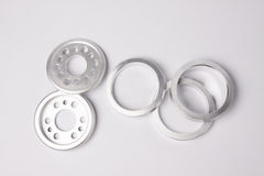 Metal bearing and other parts Stock Photo