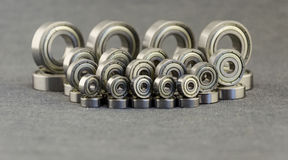 Metal bearing. Spare parts for machinery. Stock Photo