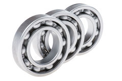 Metal bearing on white Royalty Free Stock Photography