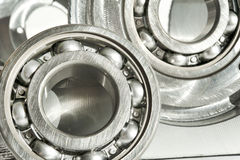 Metal bearings. CNC technology, mechanical engineering. Stock Photo