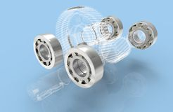 Metal bearings Royalty Free Stock Photography